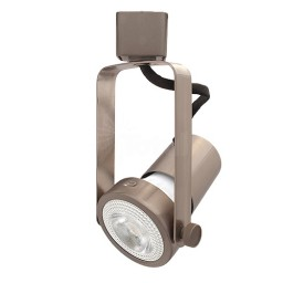 LED Gimbal SATIN NICKEL track light with EiKO PAR20 LED bulb
