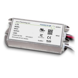 LTF LED 60watt no load electronic DC driver transformer 24VDC ELV 0-10 dimmable 277volt input TE60WD24LEDD010