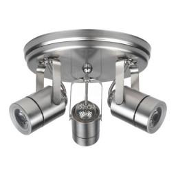Maximus LED 3 canopy light brushed nickel mini round 30watt narrow flood dimmable line voltage 120volt