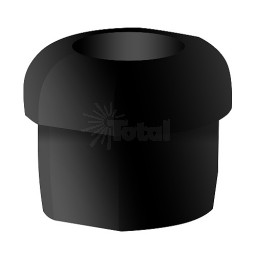 Black Strain Relief Bushing for our track lighting suspension system