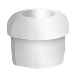 White Strain Relief Bushing for our track lighting suspension system