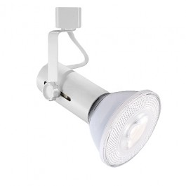 led basic white track light with par30 led flood