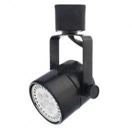 Led black mini round track light warm white gu10 mr16 120volt bulb mozeypictures Images