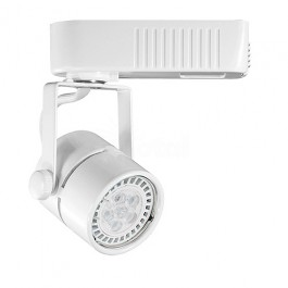 White mini round mr16 low voltage 12012v led track light fixture head led mini round track light in white for your home gallery museum commercial or office track lighting installation fixture works in our h style single aloadofball Choice Image