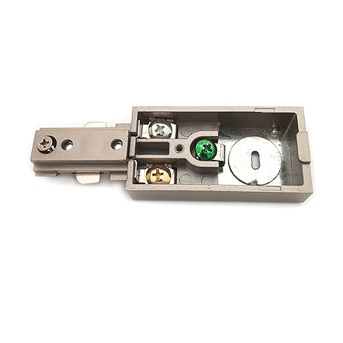 Track Lighting Satin Live End Power Feed Connector 3 Wire H Style Single  Circuit