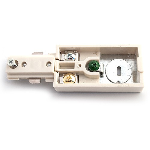 Track Lighting Architectural White Live End Power Feed