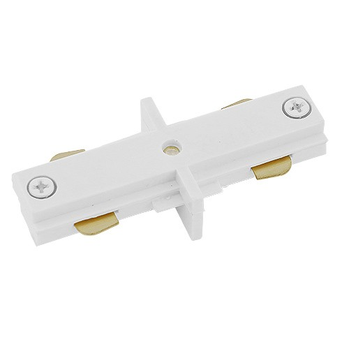 Track Lighting Architectural White Straight Connector Mini Joiner 3 Wire H  Style Single Circuit