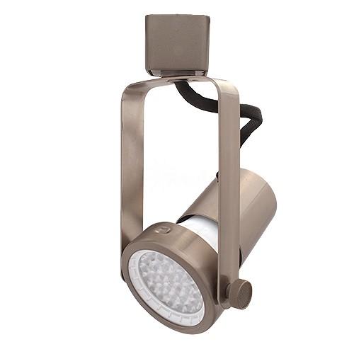 Led gimbal satin nickel track light with par20 led bulb aloadofball Gallery