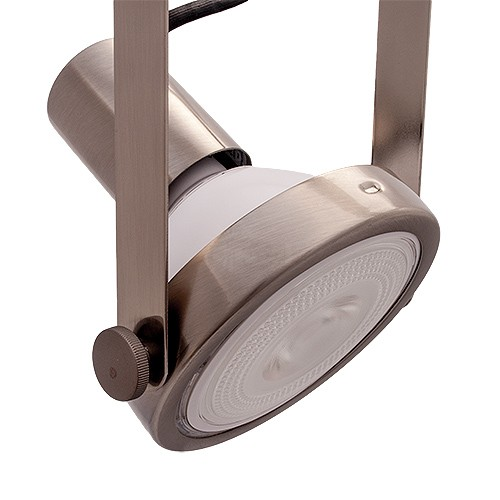 Par38 satin nickel gimbal ring track light fixture h style 3 wire aloadofball Choice Image