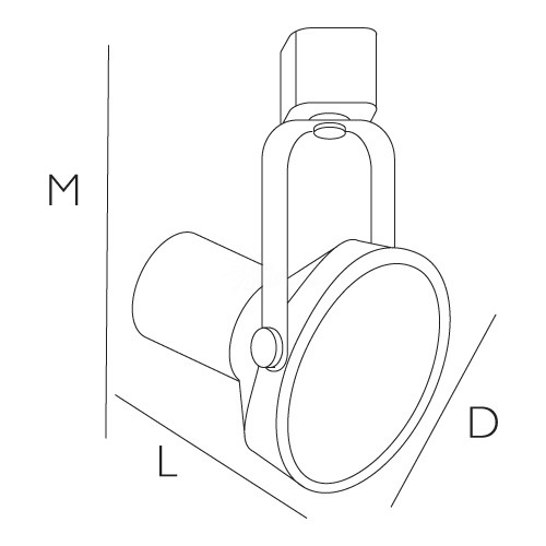 PAR38 WHITE Gimbal Ring Track Light Fixture Head