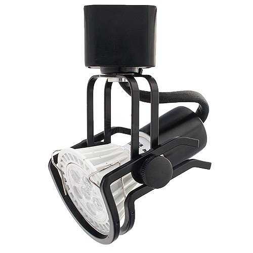 Gu10 mr16 black wire gimbal ring track light fixture head mozeypictures Image collections
