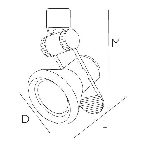 par 20 adjustable black or white cone holder line voltage track light fixture