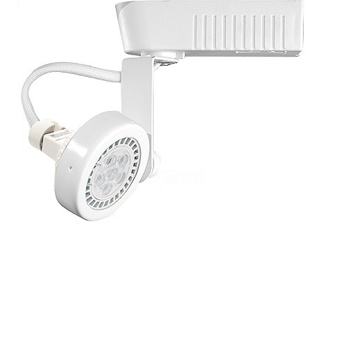 White gimbal ring mr16 low voltage 12012v led track light fixture head mozeypictures Choice Image