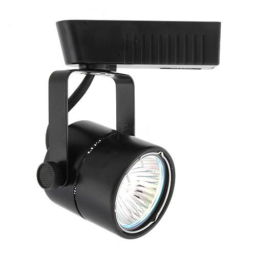 Black mini round mr16 low voltage 12012v led track light fixture head aloadofball Images