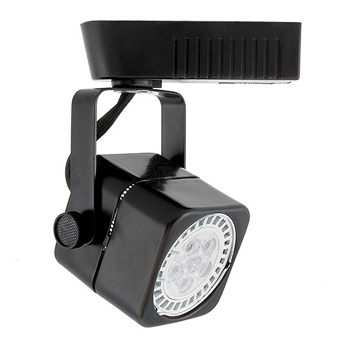 Low Voltage Light Fixtures: Black Soft Square MR16 Low Voltage Track Light Fixture Head