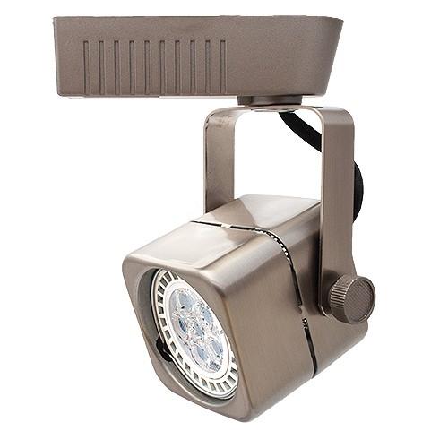 Led Track Light Head White: LED Satin Soft Square MR16 Low Voltage Track Light Fixture