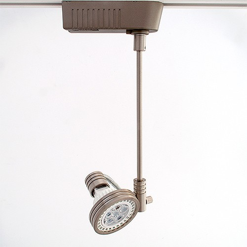 Satin nickel led extended mr16 low voltage track light fixture mozeypictures Image collections
