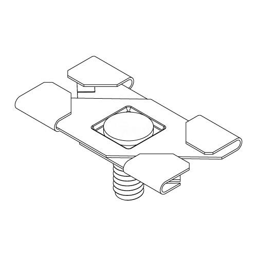 Griplock hx t clip bax 4 16 bk track lighting scissor t bar clip black aloadofball Choice Image