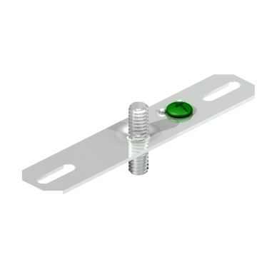 Suspended track lighting bracket bar and 1 stud aloadofball Choice Image