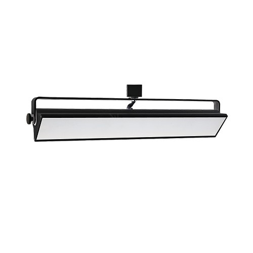 Led track lighting 40watt wall wash black track light fixture 3 wire led track lighting 40watt wall wash black track light fixture 3 wire h style dimmable aloadofball Choice Image