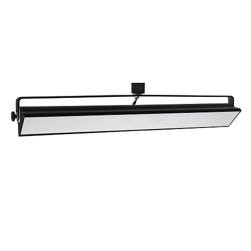 Wall Track Lights: LED Track Lighting 60watt Wall Wash BLACK Track Light Fixture 3-wire H-style Dimmable