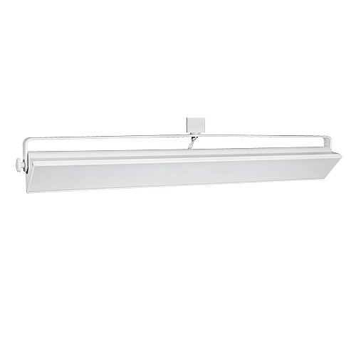 track lighting white. LED Track Lighting 60watt Wall Wash WHITE Light Fixture 3-wire H-style Dimmable White G