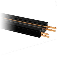 8ft. Dual Circuit Power Track Architectural Black H-style