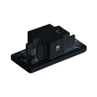 Single circuit 3 wire H style Architectural Black track end cap