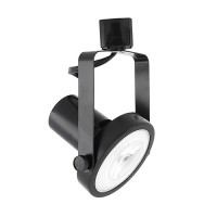 LED Gimbal BLACK track light with PAR30 LED bulb