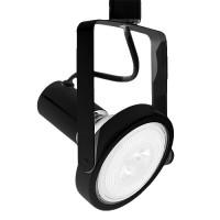 LED BLACK gimbal track light with PAR38 LED bulb