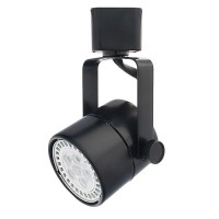 GU10 MR16 BLACK mini round track light fixture head