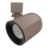LED Brushed SATIN NICKEL round back track light fixture head with warm white GU10 MR16 120volt bulb