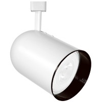 PAR30 WHITE round back cylinder Black baffle track light fixture