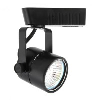 Black Mini Round MR16 low voltage 120/12v LED track light fixture head