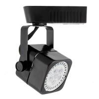 Black soft square MR16 low voltage track light fixture head