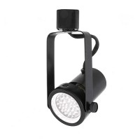 LED Gimbal BLACK track light with PAR20 LED bulb