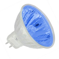 Halogen MR16 Track Light Bulb - Blue 50 watt 12 volt Flood