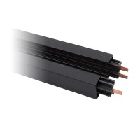 2' Power Track Architectural Black 3-wire H-style single circuit