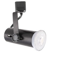 LED Basic BLACK track light with LED PAR20 flood