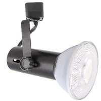 LED Basic BLACK track light with PAR30 LED flood
