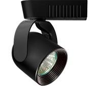 Black baffle Black round back bullet low voltage track light fixture for 12v MR16 bulb