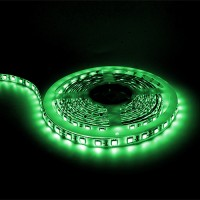 Showcase lighting Green LED tape light 16ft 24volt DC SMD 5050 IP44 rated dimmable