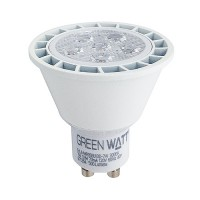 Track lighting Green Watt LED 7watt GU10 MR16 3000K 40° flood light bulb dimmable G-L6-MR16GU10D-7W-30K-40