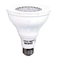 Track lighting Green Watt PAR30D-9W-30KSS25 LED 9watt Par 30 Long Neck 5000K 25° Narrow Flood light bulb is dimmable