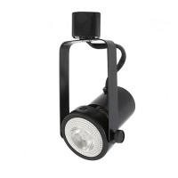 LED Gimbal BLACK track light with LED PAR20 flood light bulb