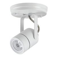 Maximus LED canopy light white mini round 10watt narrow flood dimmable line voltage 120volt