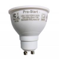 Track lighting Pro-Start LED 7.5watt GU10 MR16 3000K 40° flood light bulb dimmable LED-7.5GU10D830