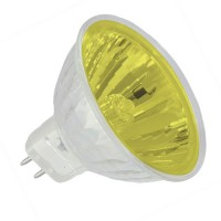 Track lighting Yellow lens colored EXN MR16 50 watt 12 volt flood halogen light bulb