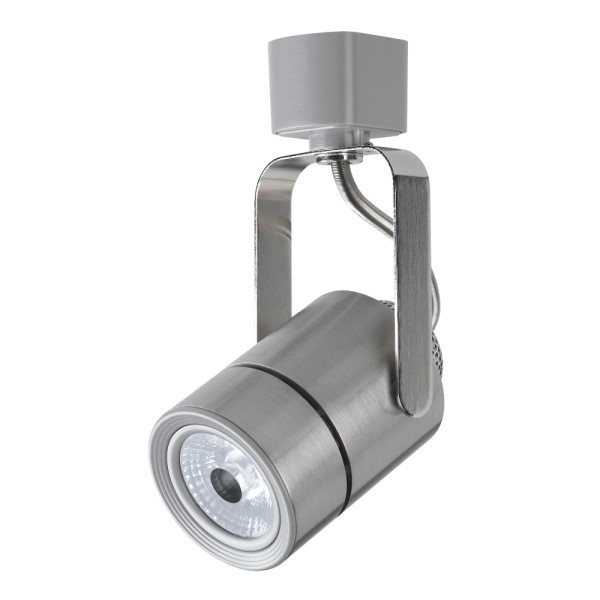 Universal track lights h style j style l style compatible maximus led brushed satin nickel track light mini round fixture head h j l aloadofball Gallery