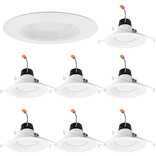 "LED 6"" white reflector trim recessed lighting G-DL6D"